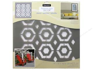 craft & hobbies: DecoArt Americana Decor Stencil 18 x 18 in. Ikat Hexagon