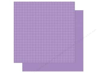 Doodlebug 12 x 12 in. Paper Petite Prints Gingham Linen Orchid (25 sheets)