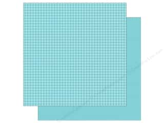 Doodlebug 12 x 12 in. Paper Petite Prints Gingham Linen Swimming Pool (25 sheets)