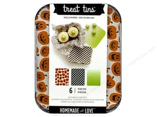 craft & hobbies: American Crafts Treat Tins 3 pc. Small Halloween