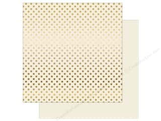 Echo Park 12 x 12 in. Paper Dots & Stripes Christmas Gold Foil Ivory (25 sheets)