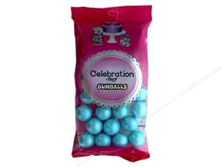 SweetWorks Celebration Gumballs 8 oz. Shimmer Powder Blue