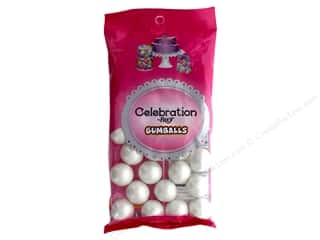 SweetWorks Celebration Gumballs 8 oz. Shimmer White