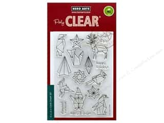 stamps: Hero Arts Poly Clear Stamp Origami Happy Holidays