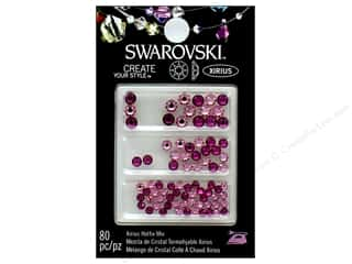 Cousin Swarovski Hotfix Rhinestone Mix 80 pc. Fuchsia & Light Rose