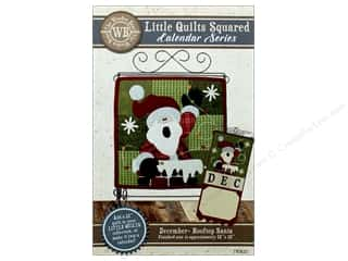Clearance: The Wooden Bear Calendar Series Rooftop Santa Pattern