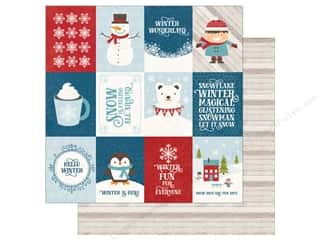 "Echo Park Collection I Love Winter Paper 12""x 12"" Journal Cards 3""x 4"" (25 pieces)"