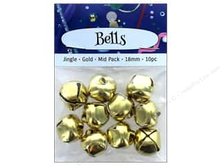 PA Essentials Jingle Bells 3/4 in. 10 pc. Gold