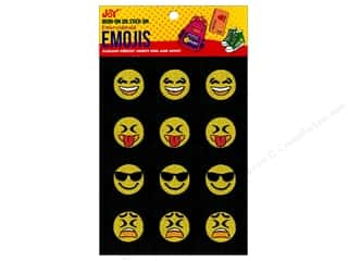 Joy Applique Iron On/Stick On Emojis #2 3 each/4
