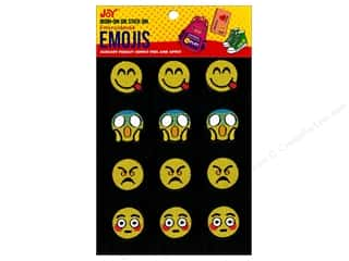 Joy Applique Iron On/Stick On Emojis #5 3 each/4