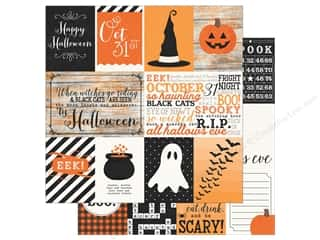 """Simple Stories: Simple Stories Collection Happy Haunting Paper 12""""x 12"""" Elements (25 sheets)"""