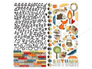 "Simple Stories: Simple Stories Collection Hello Fall Sticker 12""x 12"" (12 sets)"