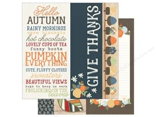 Simple Stories 12 x 12 in. Paper Hello Fall 2x12, 4x12 & 6x12 Elements (25 sheets)
