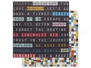American Crafts 12 x 12 in. Paper Schmille Go Now Go Arrival (25 sheets)