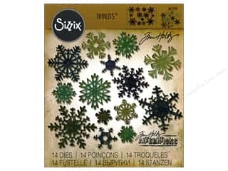Sizzix Tim Holtz Thinlits Die Set 14 pc. Mini Paper Snowflakes