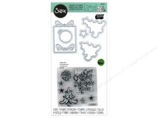 die cutting machines: Sizzix Die & Stamp Lindsey Serata Framelits Candy Cane Wishes