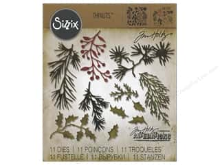 dies: Sizzix Thinlits Die Set 11 pc. Mini Holiday Greens