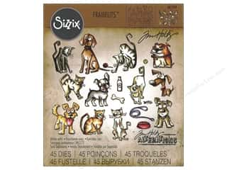 die cutting machine: Sizzix Die Tim Holtz Framelits Mini Cats & Dogs Crazy