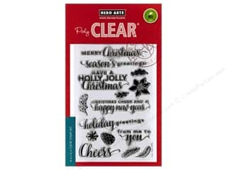 Clearance: Hero Arts Poly Clear Stamp Christmas Messages