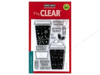 stamps: Hero Arts Poly Clear Stamp Tags Coffee Cups