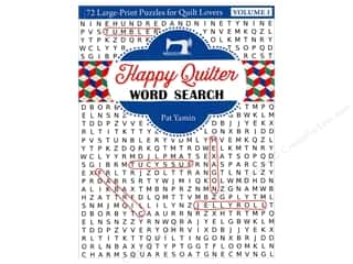 Happy Quilter Word Search: 72 Large Print Puzzles for Quilt Lovers Book by Pat Yamin