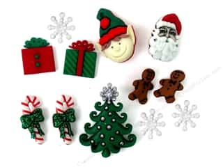 jesse james dress it up Christmas buttons: Jesse James Dress It Up Embellishments Theme Christmas