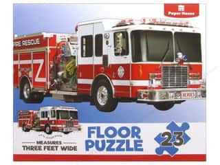 Paper House Puzzle Floor Fire Truck 23pc