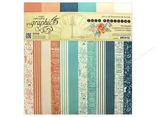 Graphic 45 12 x 12 in. Paper Pad Cafe Parisian Patterns & Solids