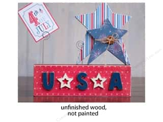 craft & hobbies: Foundations Decor Wood Shape Block/Wire/Star/USA