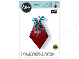 die cuts: Sizzix Dies Lindsey Serata Thinlits Diamond Box Snowflake