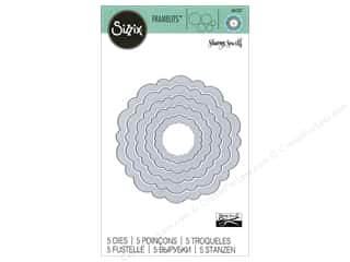 die cutting machines: Sizzix Dies Sharyn Sowell Framelits Circles Rounded Scallops