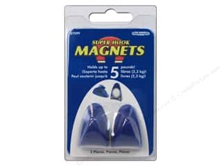 art, school & office: The Magnet Source Neodymium Magnet Hooks with Grip Pads 2 pc.