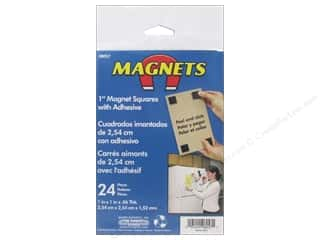 The Magnet Source Adhesive Magnets 1 in. Square 24 pc.
