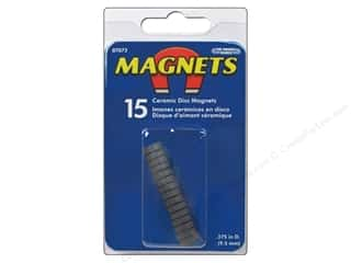 magnet disc: The Magnet Source Ceramic Disc Magnets 3/8 in. 15 pc.