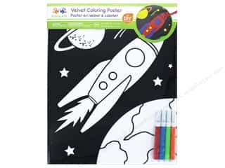 projects & kits: Multicraft Krafty Kids Velvet Coloring Poster Blast Off