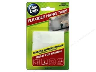 glues, adhesives & tapes: Glue Dots Hang Tabs Flexible 24pc