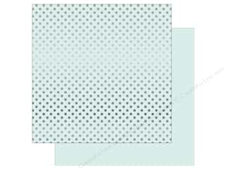 Echo Park 12 x 12 in. Paper Dots & Stripes Winter Silver Foil Ice Blue (25 sheets)