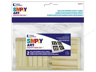 "Loew Cornell Simply Art Wood Block 2.5"" Square 2pc"