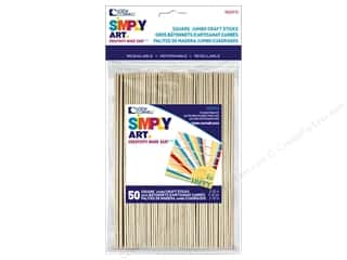 "craft & hobbies: Loew Cornell Simply Art Craft Stick 1""x 6"" Square End 50pc"