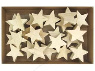 craft & hobbies: Sierra Pacific Crafts Wood Stars in Box Natural 24 pc