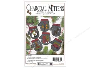 Rachel's Of Greenfield Ornament Kit Charcoal Mittens