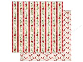 Bo Bunny 12 x 12 in. Paper Merry & Bright Peppermint (25 sheets)