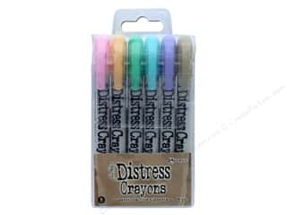 burlap: Ranger Tim Holtz Distress Crayon Set 5
