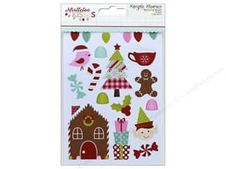"stickers: Simple Stories Collection Mistletoe Kisses Sticker 4""x 6"" (3 sets)"
