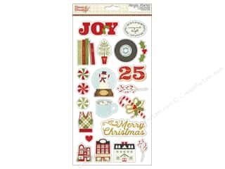 "Simple Stories: Simple Stories Collection Classic Christmas Sticker Chipboard 6""x 12"" (3 sets)"