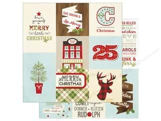 "Simple Stories: Simple Stories Collection Classic Christmas Paper 12""x 12"" Vertical Elements 4""x 4""/4""x 6"" (25 pieces)"
