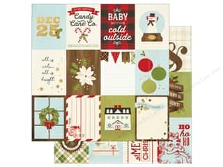 "Simple Stories: Simple Stories Collection Classic Christmas Paper 12""x 12"" Journaling Card Elements 3""x 4"" (25 pieces)"