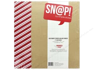 Simple Stories: Simple Stories Snap Collection Binder Striped Holiday