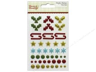 Simple Stories: Simple Stories Collection Classic Christmas Enamel Dots & Shapes (3 sets)