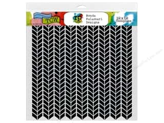 ruler: The Crafter's Workshop Template 12 x 12 in. Ronda Palazzari Designs Stockinette